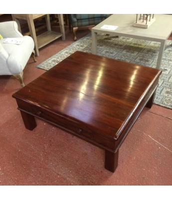 Zimbabwean Rail Sleeper Teak Coffee Table