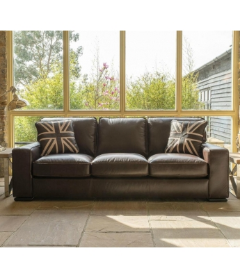 Barney 3 Seater Leather Sofa
