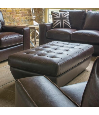 Barney Leather Footstool