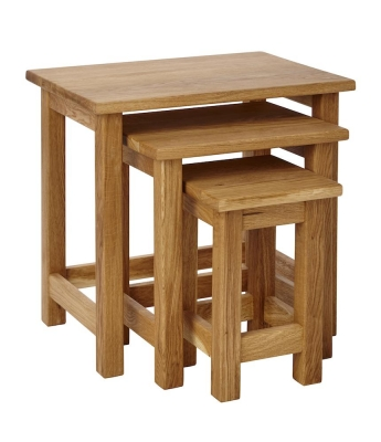 Ardennes Oak Nest of Tables