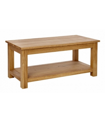 Ardennes Oak Coffee Table with Shelf