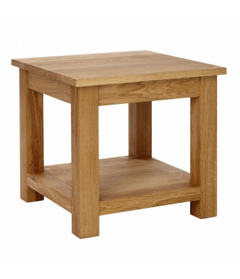 Ardennes Oak Lamp Table with Shelf