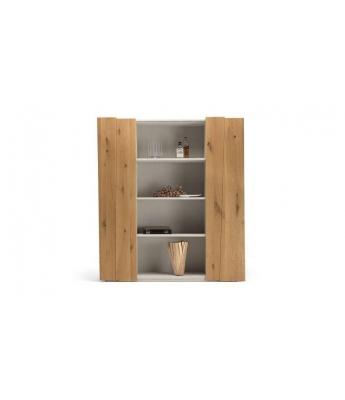 Conarte Crisalide Oak Double Bookcase