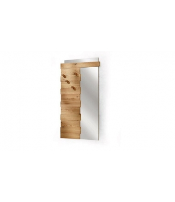 Conarte Crisalide Oak Clothes Hanger with Mirror