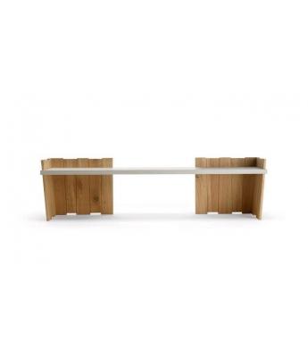 Conarte Crisalide Oak Closed Legs Bench