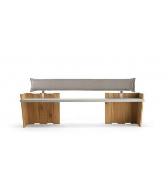 Conarte Crisalide Oak Closed Legs Bench (Fabric Back)