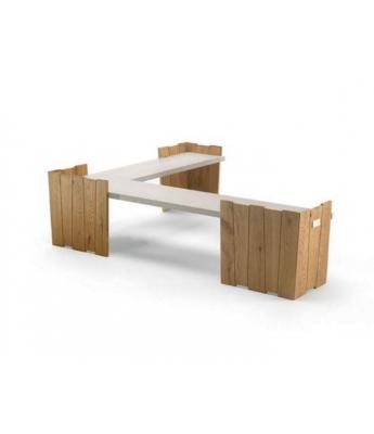 Conarte Crisalide Oak Corner Bench