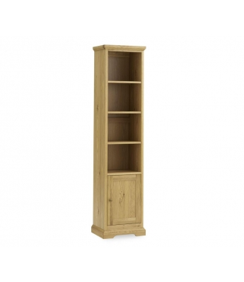 Perigord Oak Narrow Bookcase