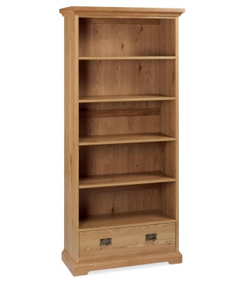 Perigord Oak Wide Bookcase