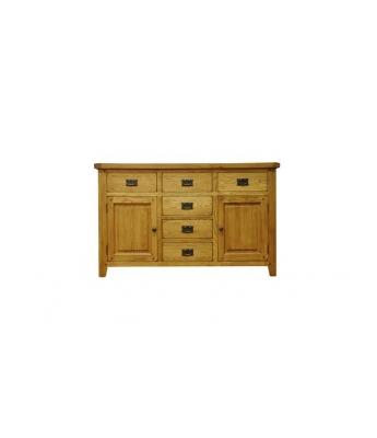 Malvern 2 Door 6 Drawer Oak Sideboard
