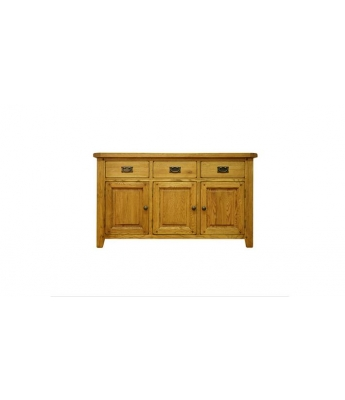 Malvern 3 Door 3 Drawer Oak Sideboard