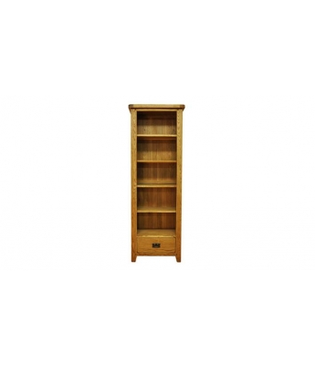 Malvern Large Narrow Oak Bookcase