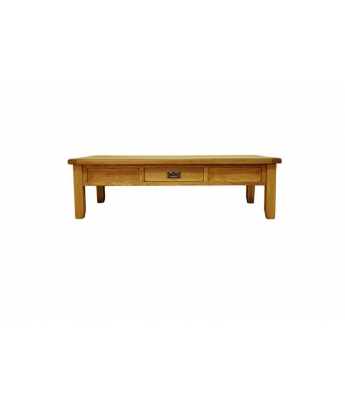 Malvern Large Oak Coffee Table with Drawer