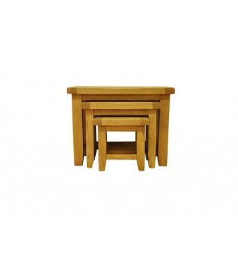 Malvern Oak Nest of 3 Tables