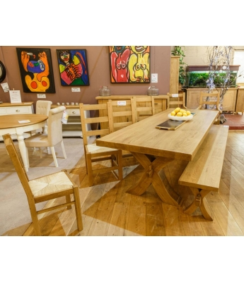 Conarte Cevennes X-Leg Dining Table Set