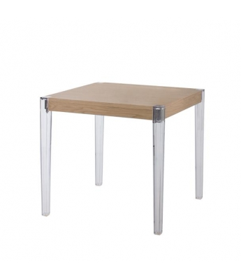 Together Oak and Techno-Polymer Table