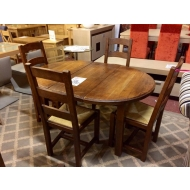 french solid oak extending table with 6 chairs