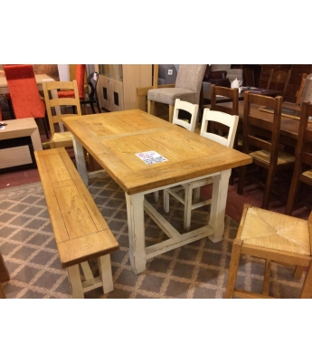 French Oak Extending Table Set