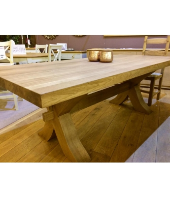 Xero X-Leg Oak Table