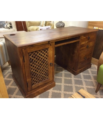 Sheesham Desk with Filing Cabinet