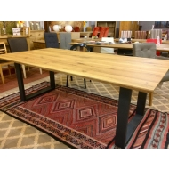 italian oak u leg table 220 x 110