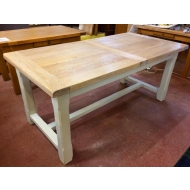 carennac oak farmhouse extending table 180 x 90