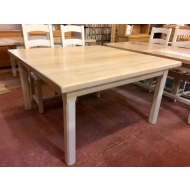 carennac oak farmhouse table 120 x 120
