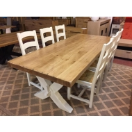 antix x leg oak farmhouse table