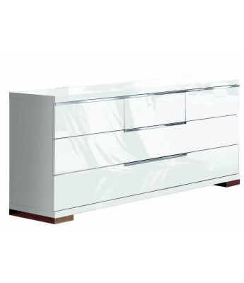 Asti 5 Drawer High Gloss Wide Chest